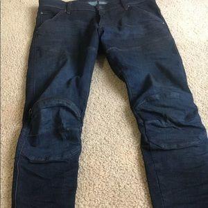 G star raw mens biker jeans 33